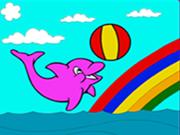 Farv delfinen